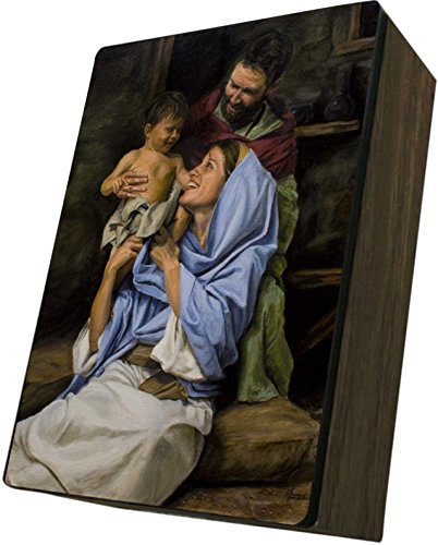 Catholic to the Max|Holy Family Jason Jenicke 4x6.5x2.5in Wooden Keepsake Rosary Jewelry Box, Suede Matte by Catholic to the Max