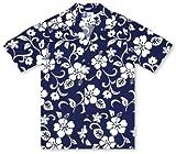 RJC Boys Hibiscus Blue Hawaiian Shirt