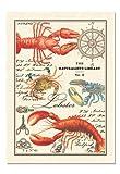 Michel Design Works Lobster Kitchen Towel, Natural Woven Cotton