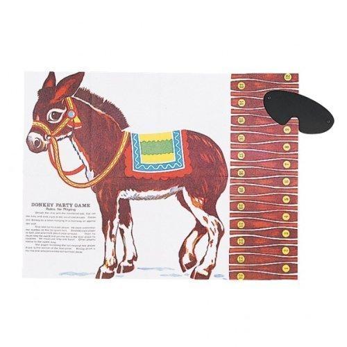 Partyrama Pin the Tail on the Donkey - Gioco tradizionale per feste per bambini