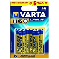 Varta - Pile Alcaline - AA x 6 - Longlife (LR6)