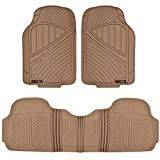 Automotive : Motor Trend FlexTough Baseline - Heavy Duty Rubber Car Floor Mats, 100% Odorless & BPA Free, All Weather (Tan Beige)