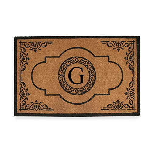 A1 Home Collections PT4007G First Impression Hand Crafted Abrilina Entry Monogrammed Doormat, Double, 30
