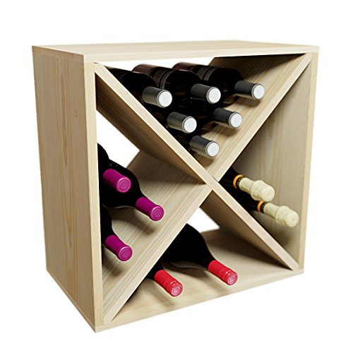 Creekside 24 Bottle Stackable Wine Cube, 12