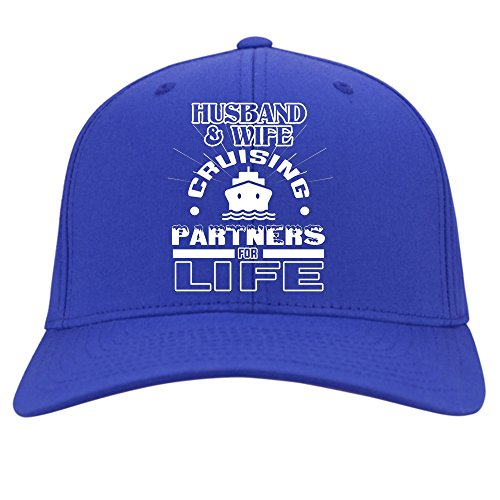 Husband And Wife Cap, That's Cruising Partners For Life Hat (Twill Cap - Blue) by Tee