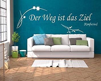 XL Wandtattoo Wohnzimmer ~ Text: Der Weg Ist Das Ziel, Zitat Konfuzius  Sprüche ~
