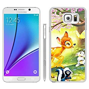 Newest Samsung Galaxy Note 5 Case ,Popular And Beautiful Designed Case With Disney Bambi white Samsung Galaxy Note 5 Screen Cover High Quality Phone Case
