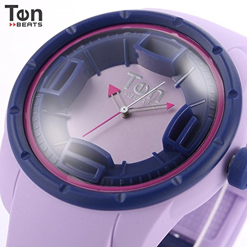 LNTGO Ten Beats Lady Women Japan Movement Silicon Band Case Fluorescent Inner 3D Arabic Numeral Analog Waterproof Wristwatch -Bf130207