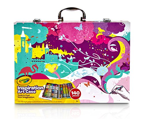 Large Product Image of Crayola Inspiration Art Case, Pink Portable Art Studio, 140 Art & Coloring Supplies Art Gift for Kids 4 & Up in Convenient Graphic Travel Case, Great for The Artist On-The-Go, Hours of Creative Fun