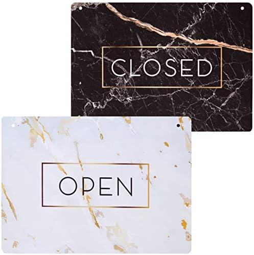 Amazon.com: Elegante cartel de mármol abierto, cartel ...