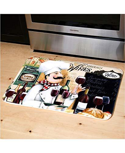 """J&V TEXTILES Relax Series Series 20""""x30"""" Antifatigue Kitchen Mats (Vino Chef)"""