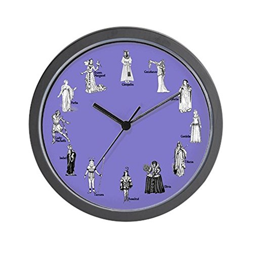 CafePress - Shakespeare's Women Blue Wall Clock - Unique Decorative 10
