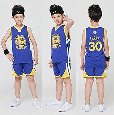 Niño Camisetas de Baloncesto para Hombre - Bulls Jordan 23, Lakers 23 James/24 Bryant, Warriors 30 Curry/35 Durant NBA Maillots de Baloncesto: Chaleco Top de Verano+Pantalones Cortos Deportivos: Amazon.es: Deportes y aire libre
