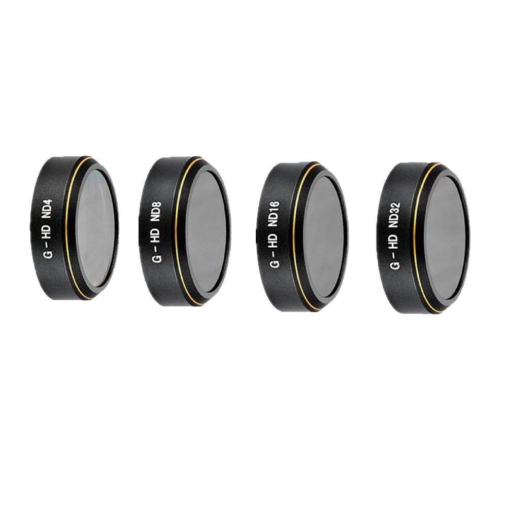 Meijunter Gold Draht Muster Kamera Filter Linse ND4+ND8+ND16+ND32 Set für DJI Phantom 4 Advanced/4 Pro+ Camera