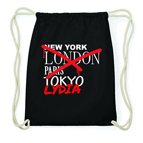 JOllify LYDIA Hipster Turnbeutel Tasche Rucksack aus Baumwolle - Farbe: schwarz Design: Grafitti QSq0LmpS