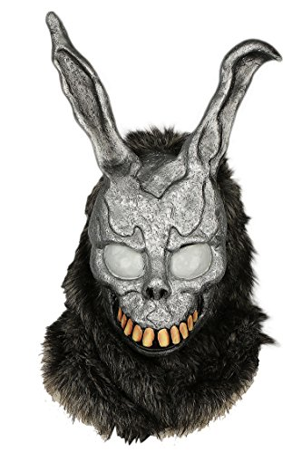xcoser Donnie Darko Bunny Mask Deluxe Frank Helmet With Fur Cosplay Accessory]()