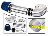 R&L Racing Blue Short Ram Air Intake Kit + Filter 94-01 for Dodge Ram 1500 V8 5.2L/5.9L