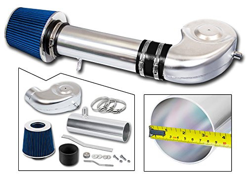 R&L Racing Blue Short Ram Air Intake Kit + Filter 94-01 for Dodge Ram 1500 V8 5.2L/5.9L
