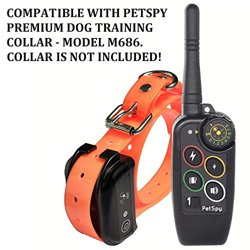 85%OFF PetSpy Extra Remote Transmitter for Premium Dog Training System with Shock, Vibration and Tone, Rechargeable and Waterproof - Collar is Required