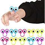 3 otters Eyeball Ring, 25 PCS Eye Finger Puppets Eye Monster Finger Kid Easter Toys