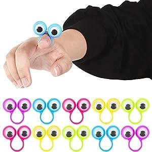 3 otters Eyeball Ring, 25 PCS Eye Finger Puppets Eye Monster Finger Kid Easter Toys - 51ATuBV4jLL - 3 otters Eyeball Ring, 25 PCS Eye Finger Puppets Eye Monster Finger Kid Easter Toys