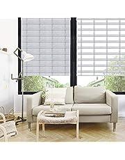 ستائر رول طبقتين مربعات لجميع الغرف سهلة التركيب الارتفاع 200سم العرض 150سم