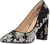 Nine West Women's ASTORIA9 X 9 Fabric, Black Multi/Black Fabric, 8.5 M US