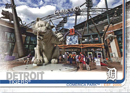 Tigers Fan Series - 2019 Topps Series Two Baseball #491 Comerica Park Detroit Tigers Offical MLB Trading Card