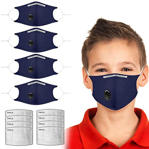 Jizvestia 6PCS Bandana Face Dust Reusable Washable Cloth Protection Re Useable Fashion Fabric Breathable Rewashable Scarf with Adjustable Ear loops and Nose Wire