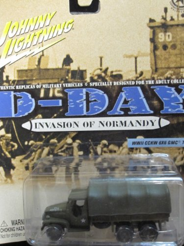 GMC 6x6 Truck D-Day Invasion Of Normandy Johnny Lightning WWll CCKW Military (Gmc Military Trucks)