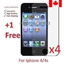 Electroclick x 5 HD Clear film guard screen protector cover shield LCD for Iphone 4/4s
