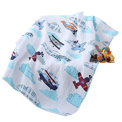 House Airplane Plane Quilt Baby and Toddler Quilt Bedspread Boys Girls Kid