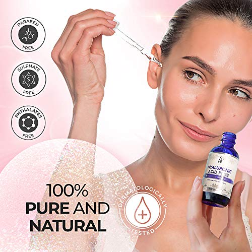 51ATvLrppqL - Hyaluronic Acid for Face (2 oz) - 100% Pure Medical Quality Clinical Strength Formula - Anti aging formula for your skin