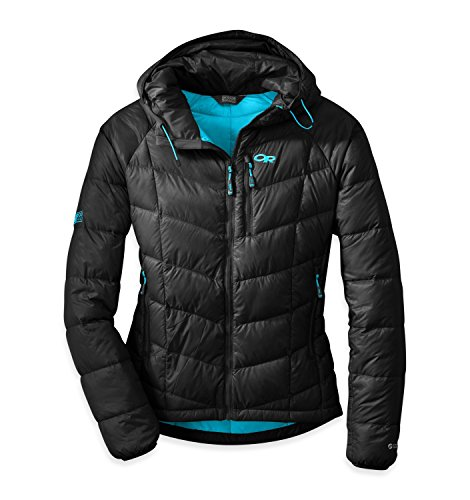 Outdoor Research Women's Sonata Hoodie, Black/Rio, - Shirt Hooded Quantum