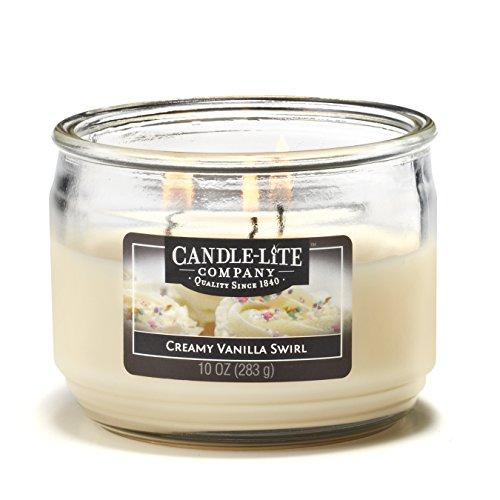 CANDLE-LITE Essentials 3 Wick 10-Ounce Creamy Vanilla Swirl Terrace Jar Candle ()