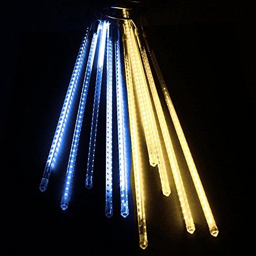 電光ホーム イルミネーション つらら スノーフォール ライト 80cm 10本 (ホワイト&ゴールド) B01MSKKP8Z 16470 ホワイト&ゴールド ホワイト&ゴールド