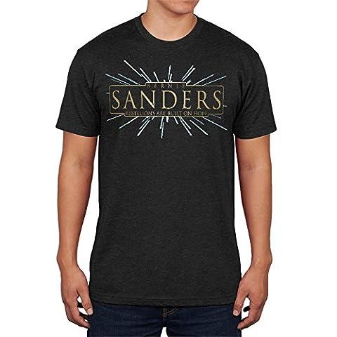 Bernie Sanders Rebellions Are Built On Hope Mens Soft T Shirt Vintage Black MD (Built Sander)
