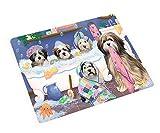 Rub A Dub Dogs in A Tub Tibetan Terriers Dog Blanket BLNKT130881 (50x60 Plush)