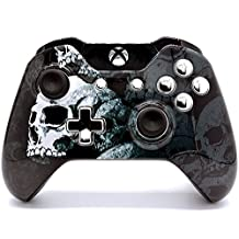 """""""Skull Bones"""" Xbox One Rapid Fire Modded Controller for COD BO3, MW Remastered, Ghosts, Destiny, GOW 4, Battlefield 1: Quick Scope, Drop Shot, Auto Run, Sniped Breath, Mimic, More (3.5 mm jack)"""