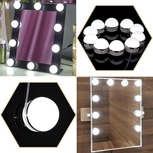 Hollywood Vanity Mirror Light Kit, Kohree Dimma...