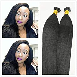 I Tip Human Hair Extension – 0.5g Per Strand 50g Per Package Body Wave Remy 9a Brazilian Virgin Water Wave Human Hair…
