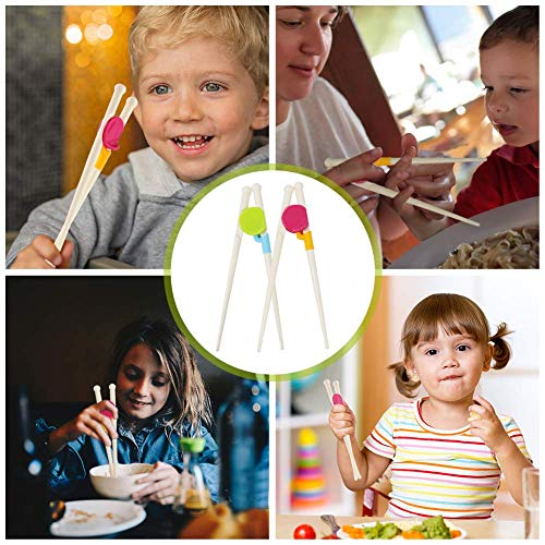 HAKACC Kids Training Chopsticks, 4 Pairs of Children Chopsticks Learning Chopsticks for Kids Toddlers