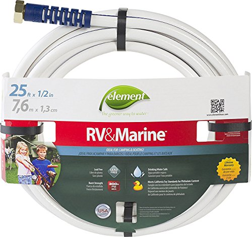 Camping Water Hose - Swan Products ELMRV12025 Element RV & Marine Camping and Boating Water Hose 25' x 1/2