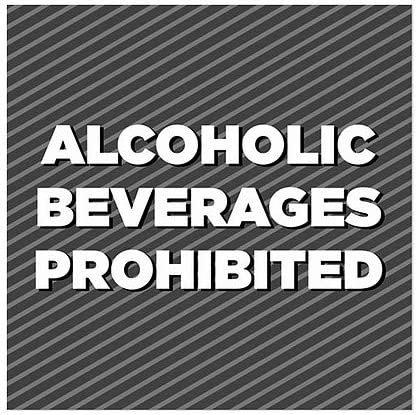 5-Pack Stripes Gray Window Cling CGSignLab Alcoholic Beverages Prohibited 12x12