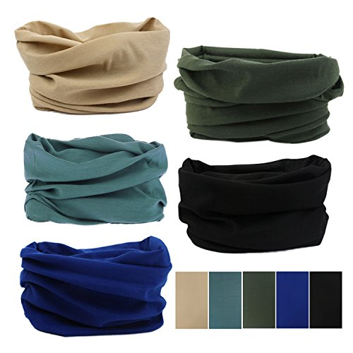 Oureamod Wide Headbands for Men and Women Athletic Moisture Wicking Headwear for Sports,Workout,Yoga Multi Function (Solid Series)