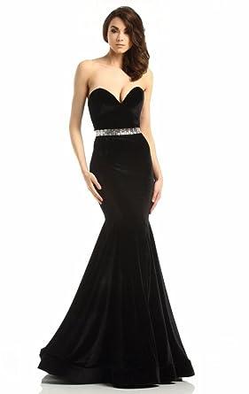 Passat Black 6104 Strapless Mermaid Gown Custom Made JK27