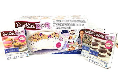 Easy Bake Ultimate Oven Super Star Treat Edition with 3 Mixes and 3 Additional Sets of Refill Mix Packs Bundle (Total of 4 Items)