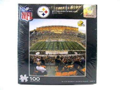 NFL Pittsburgh Steelers Heinz Field Puzzle 100pc - NFL Steeler Football Fans Jigsaw Puzzle Game - Kids + Adults Stiller Fans Stealers Art