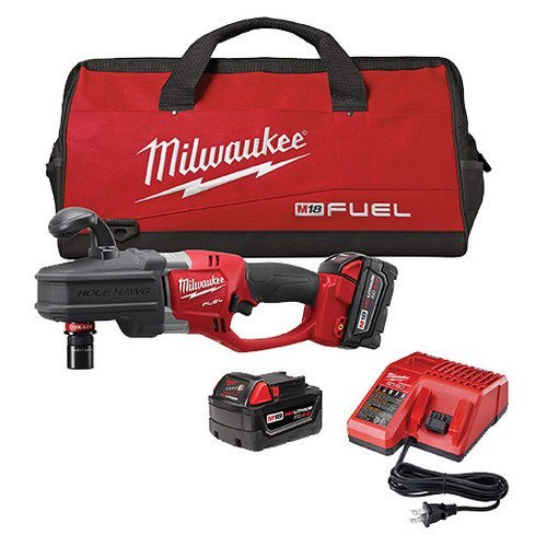 Milwaukee 2708-22 M18 Fuel Hole Hawg Right Angle Drill Kit with Quik-Lok