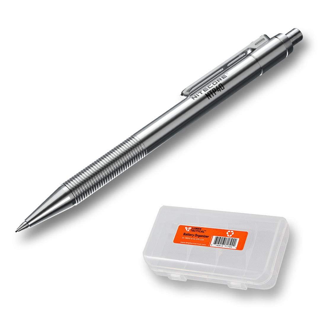 NITECORE NTP40 Titanium Alloy Mechanical Pencil with LumenTac Organizer by Nitecore (Image #1)
